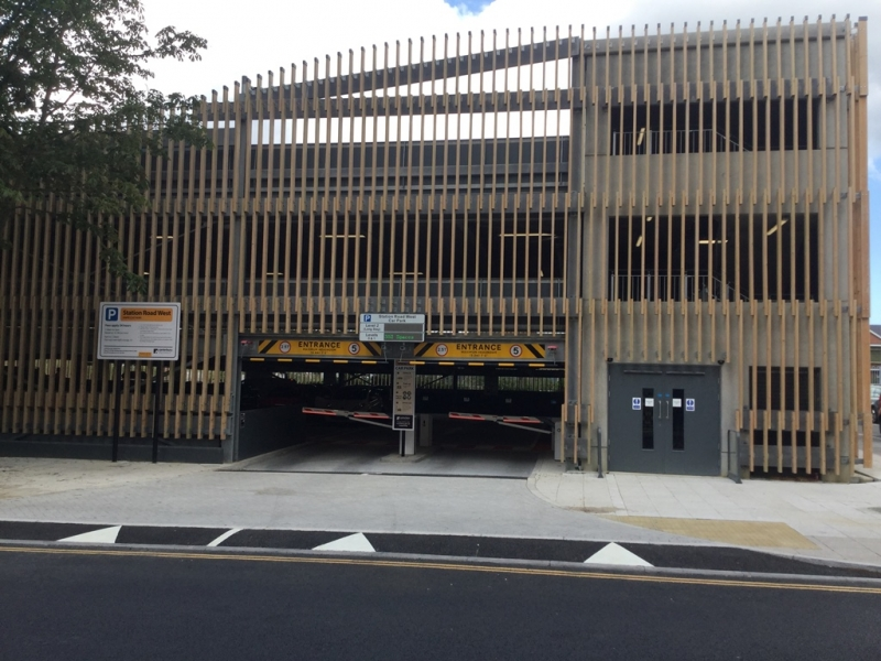 New multi-storey car park at Station Road West